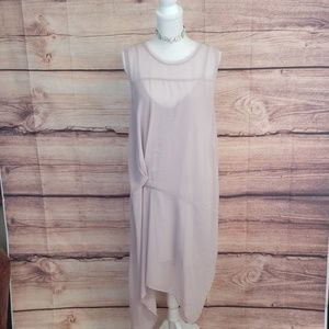 Zara asymmetrical sheer lavender dress